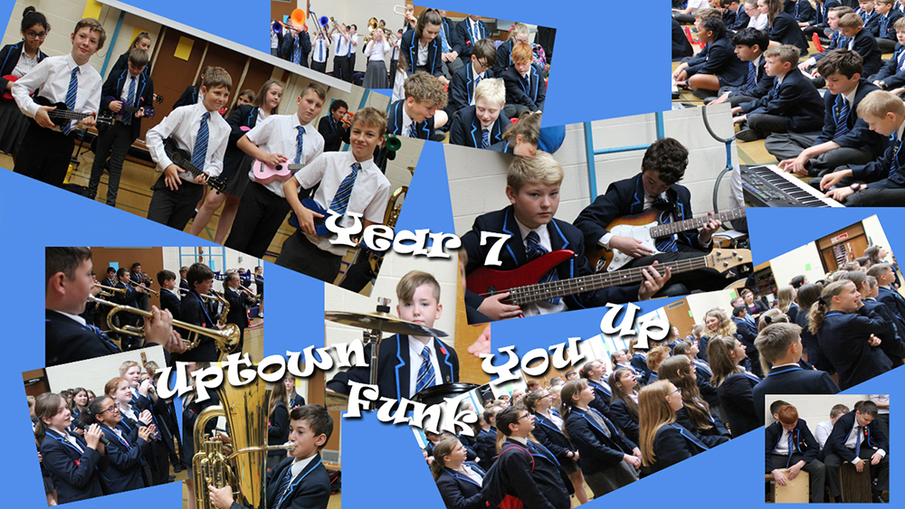 Uptown funk ronsen music assembly 2019